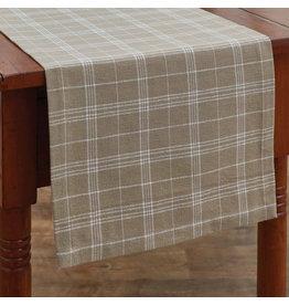 "Park Designs 54"" Table Runner - Fieldstone Plaid Cream"