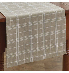 "Park Designs 36"" Runner - Fieldstone Plaid Cream"