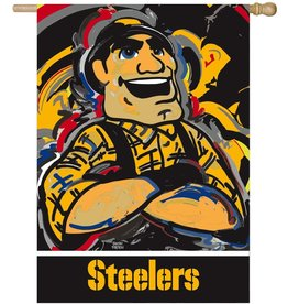 Evergreen Pittsburgh Steelers House Flag Justin Patten