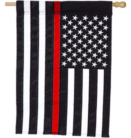 Evergreen Thin Red Line House Flag