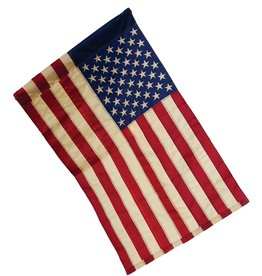 Evergreen Tea Stained American Flag - Garden Size