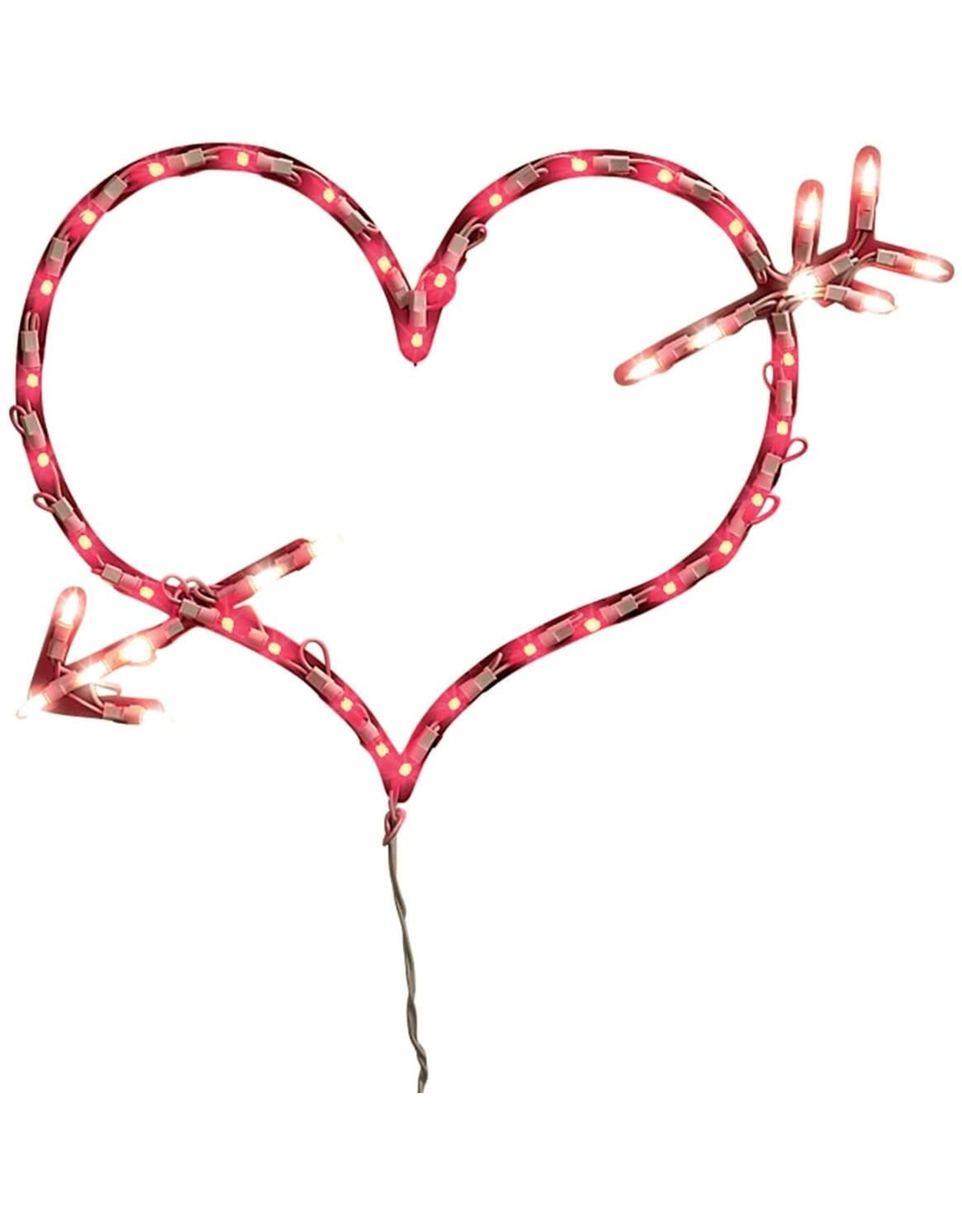 Design Group Light-Up Heart with Arrow Window Decoration