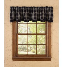 Park Designs Lined Layered Valance - Black Coffee