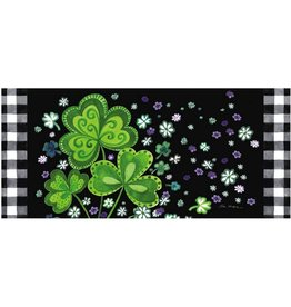 Evergreen Sassafras Switch Mat - Springtime Plaid Shamrocks