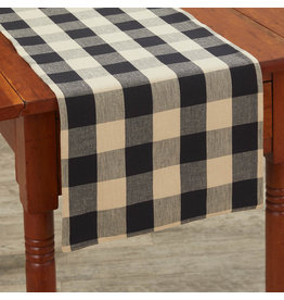 "Park Designs Wicklow Check Black 36"" Table Runner"