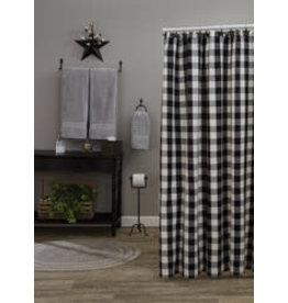 Park Designs Wicklow Check Black/Cream Shower Curtain