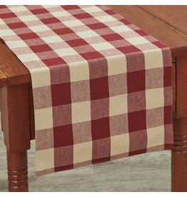 Park Designs Willow Check Garnet Table Runner