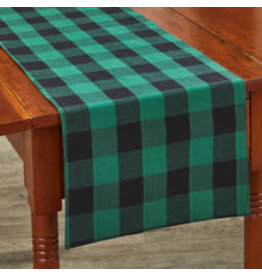 Park Designs Wicklow Check Forest Table Runner