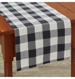 Park Designs Wicklow Check Black & Cream Table Runner
