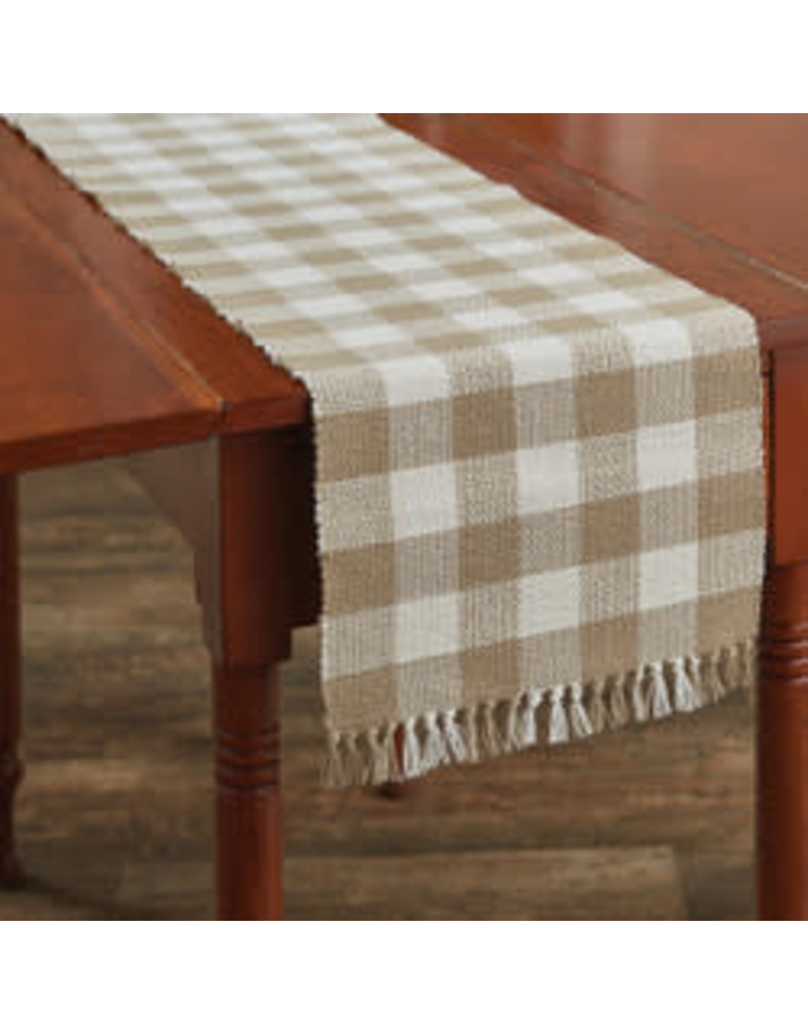 Park Designs Wicklow Check Natural Table Runner
