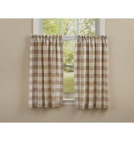 Park Designs Wicklow Check Natural Curtains