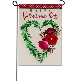 Evergreen Garden Flag Valentine's Flowers