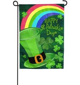Evergreen Burlap Garden Flag St. Patrick's Day