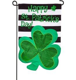 Evergreen Applique Garden Flag St. Patrick's Day