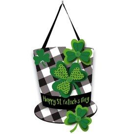 Evergreen Door Décor Plaid St Patrick's Day Hat