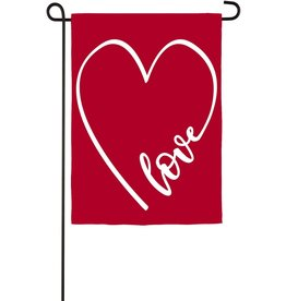Evergreen Garden Flag Love Heart