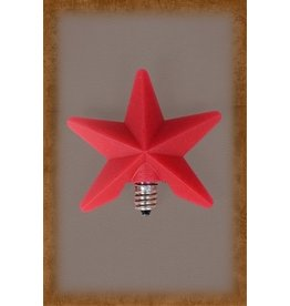 Vickie Jean's Creations Silicone Bulb Large Red Star