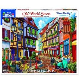 White Mountain Old World Street 550 pc Puzzle