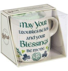 Evergreen Celtic Memories Cup & Sock Gift Set