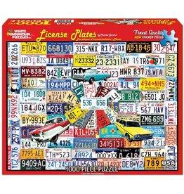 White Mountain License Plates 1000 pc Puzzle