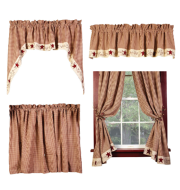 Country House Stars N Berries Curtains