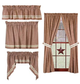 Country House Berry Vine Curtains