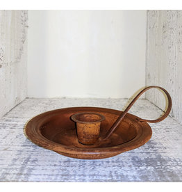 """Country Candles 5"""" Round Rusty Candle Pan Holder"""