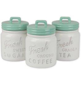 DII Aqua Ceramic Jar Canister set/3
