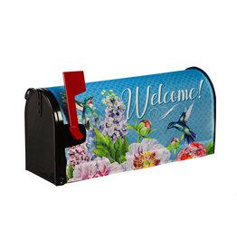 Evergreen Peonies & Hummingbirds Mailbox Cover