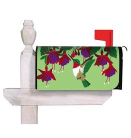 Evergreen Hummingbird and Fuchsia Mailbox Cover