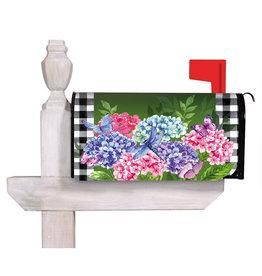 Evergreen Hydrangea Checks Mailbox Cover