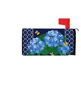 Evergreen Hydrangea Blossoms Mailbox Cover