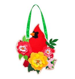 Evergreen Spring Cardinal Door Décor