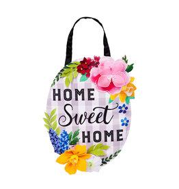Evergreen Home Sweet Home Plaid Door Décor