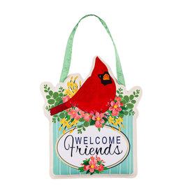 Evergreen Spring Floral Cardinal Door Décor
