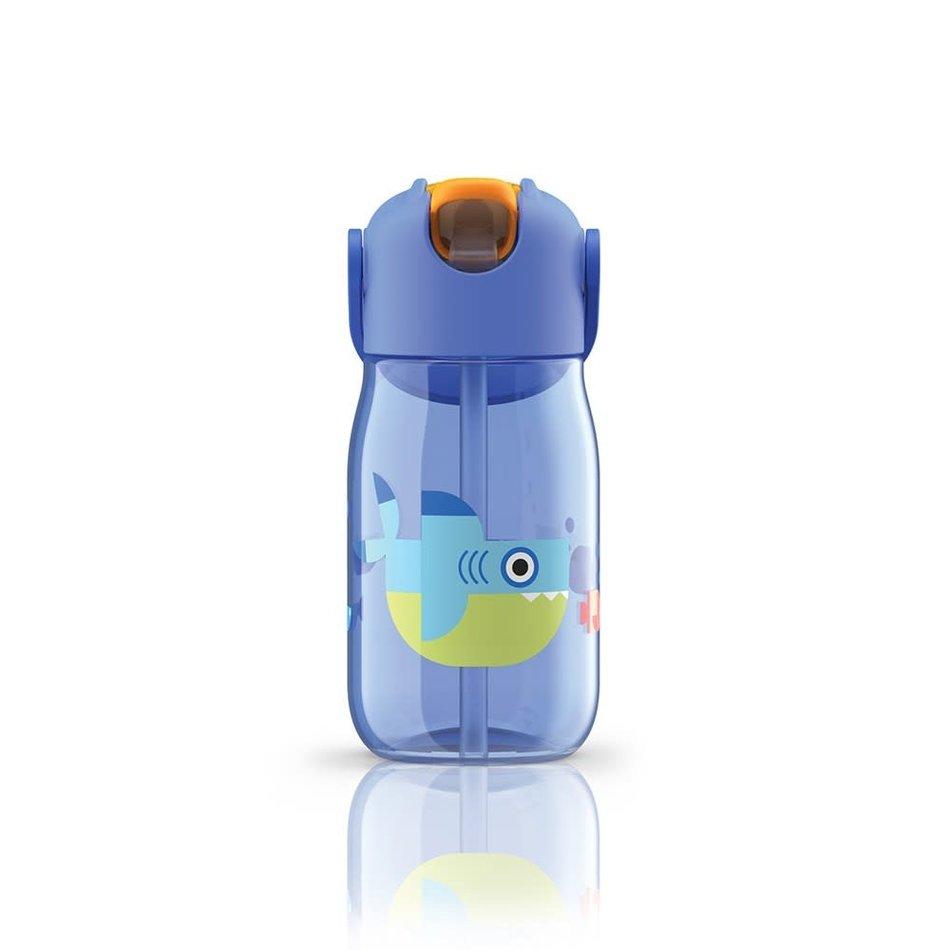 ZOKU Zoku Kids Flip Straw Bottle, Blue
