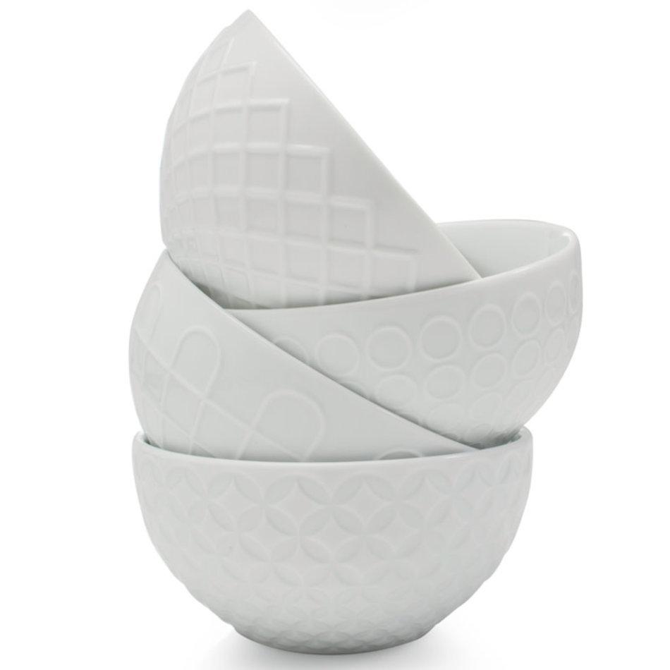 BIA BIA Textured Bowl 21oz, White