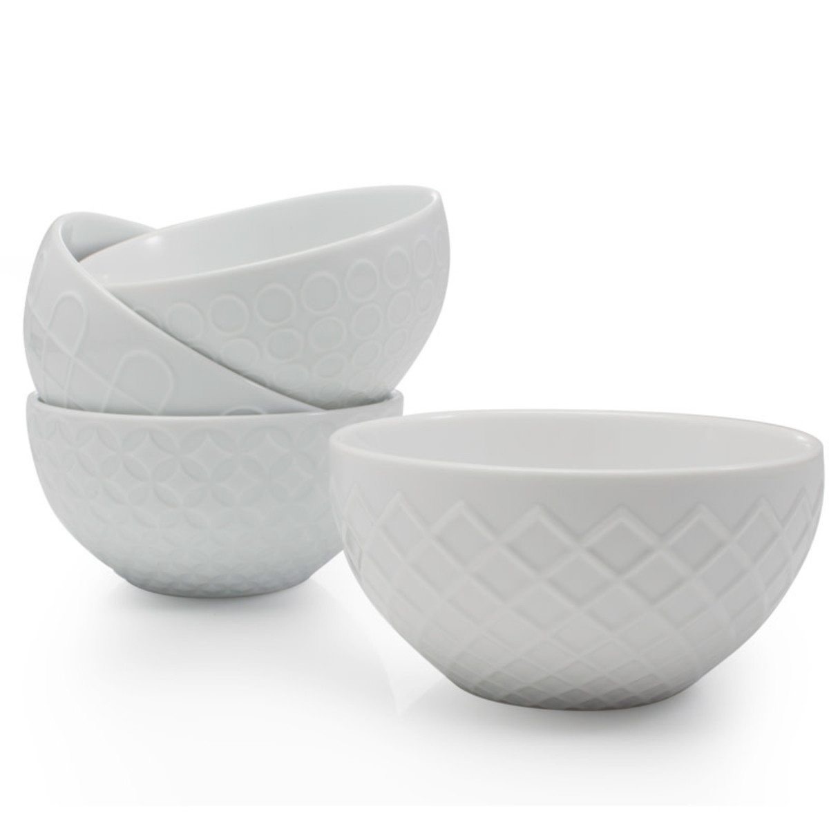 BIA BIA Textured Bowl 21oz, White