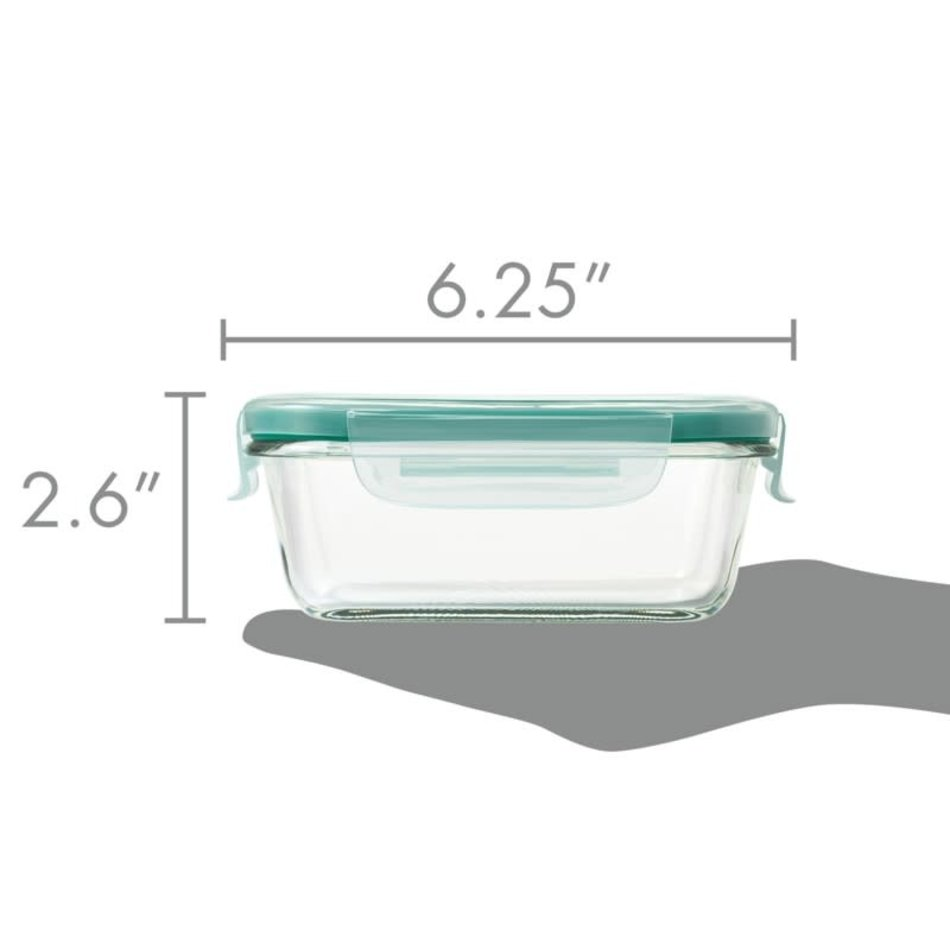 OXO Good Grips OXO SmartSeal 1.6 Cup Rectangular Container, Glass