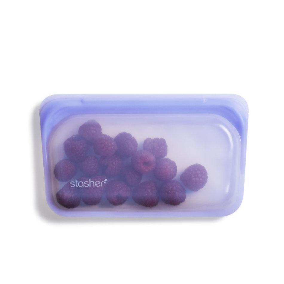 Stasher Stasher Snack Bag, Amethyst