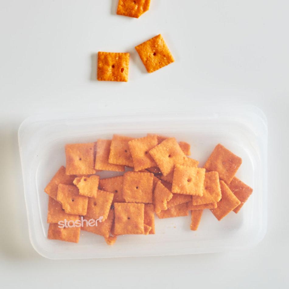 Stasher Stasher Snack Bag, Clear