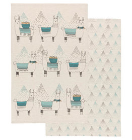 Now Designs Llamarama Tea Towel, Set of 2