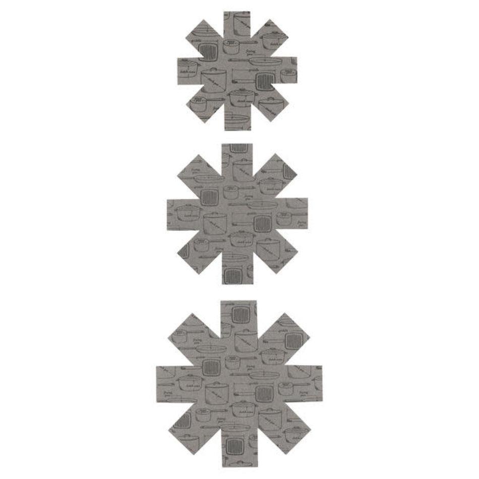 Now Designs Pan Protectors, Grey, set of 3