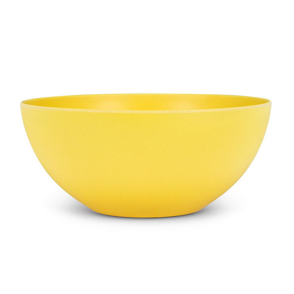 "Abbott Bamboo Salad Bowl, Yellow, 10"""