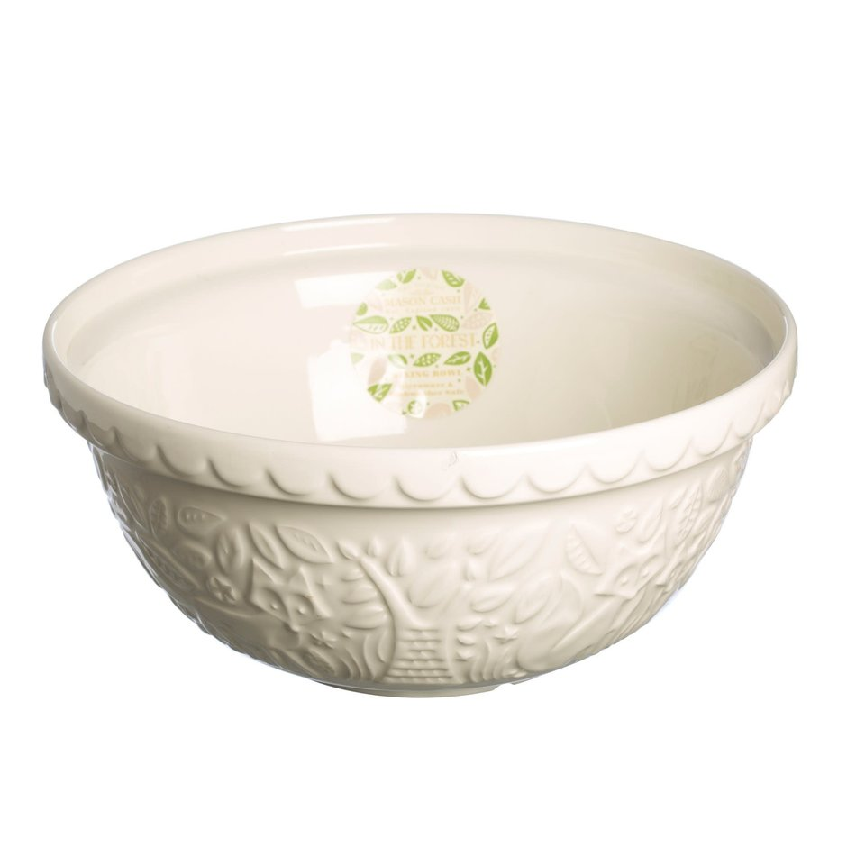 Mason Cash Mason Cash In the Forest Mixing Bowl, 29cm, Cream
