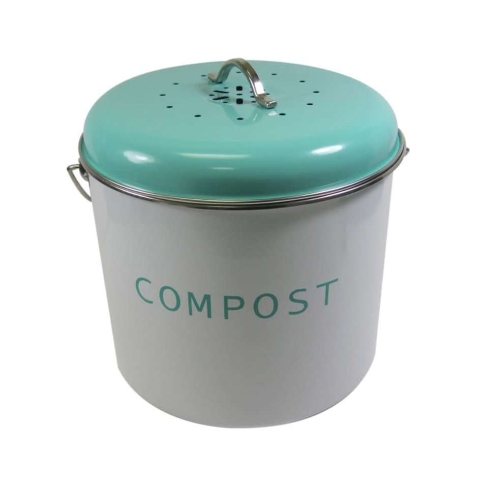 Compost Bin, Large, Turquoise