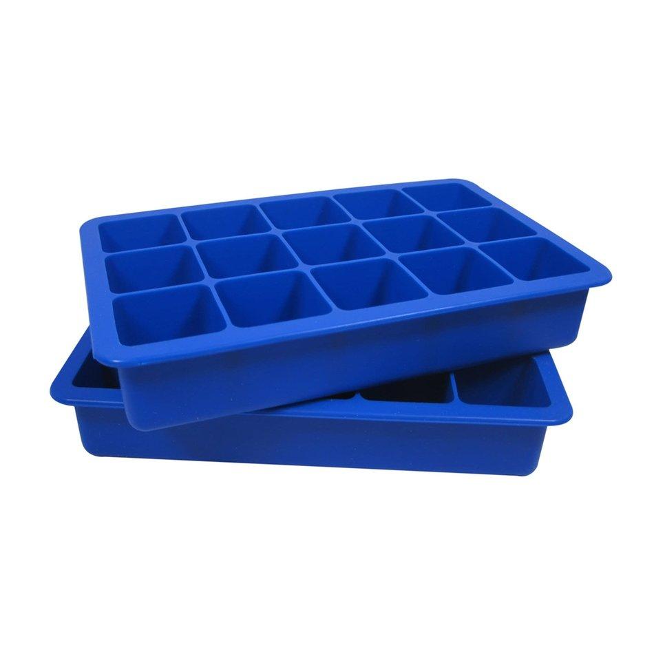 Kitchenbasics Ice Cube Tray, set of 2, Blue