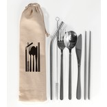 Cutlery Set With Cotton Bag, 7pc