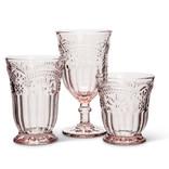 "Abbott Flower Wine Goblet, 6.5"", Pink"