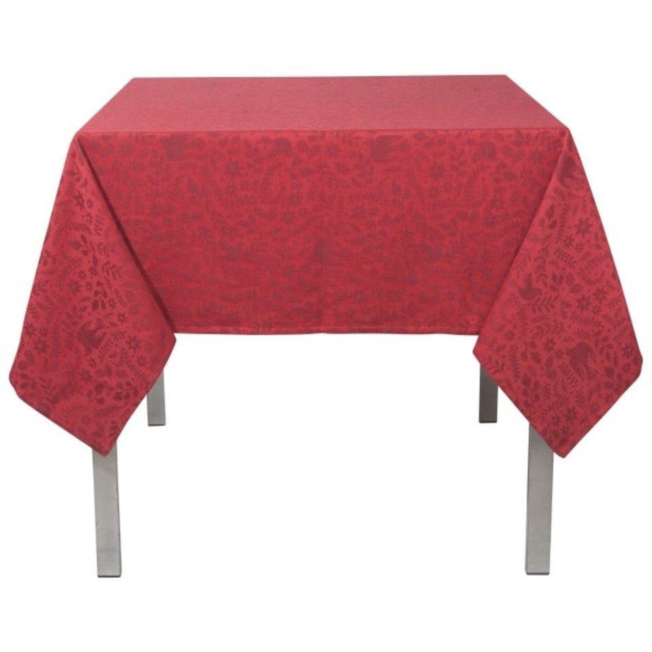 "Wonderland Jacquard Red Tablecloth, 60""x120"""